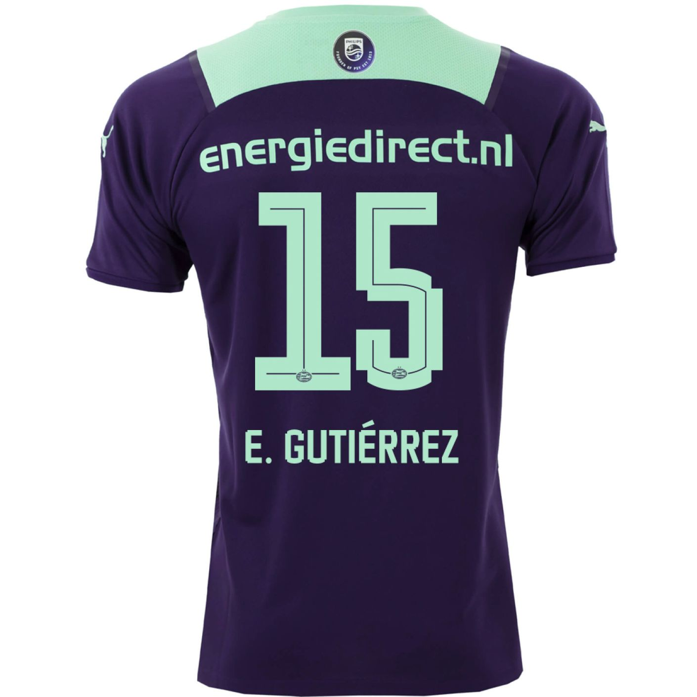 PSV E. Gutiérrez 15 Uitshirt 21/22 Kids