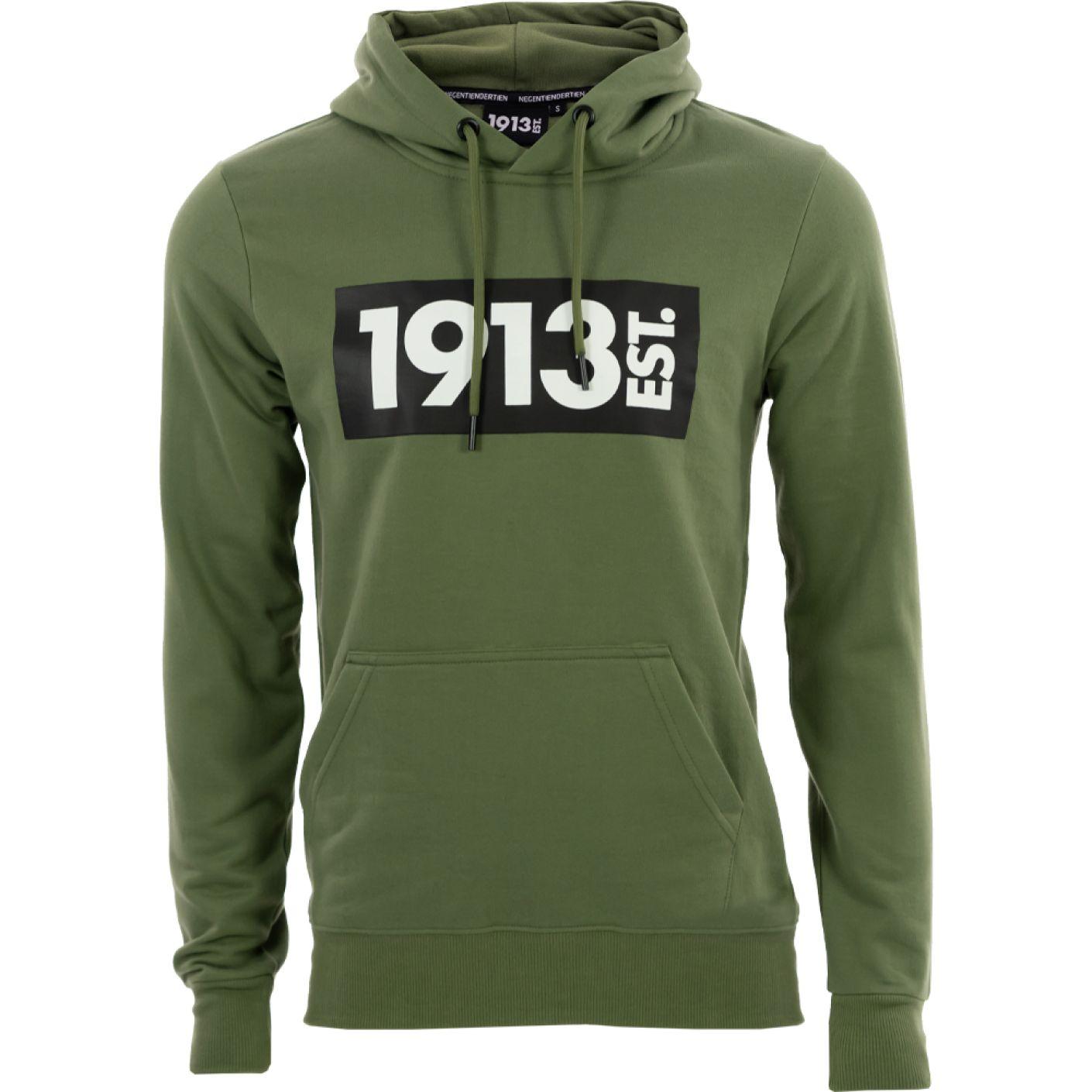 1913 Hooded Sweater groen Block