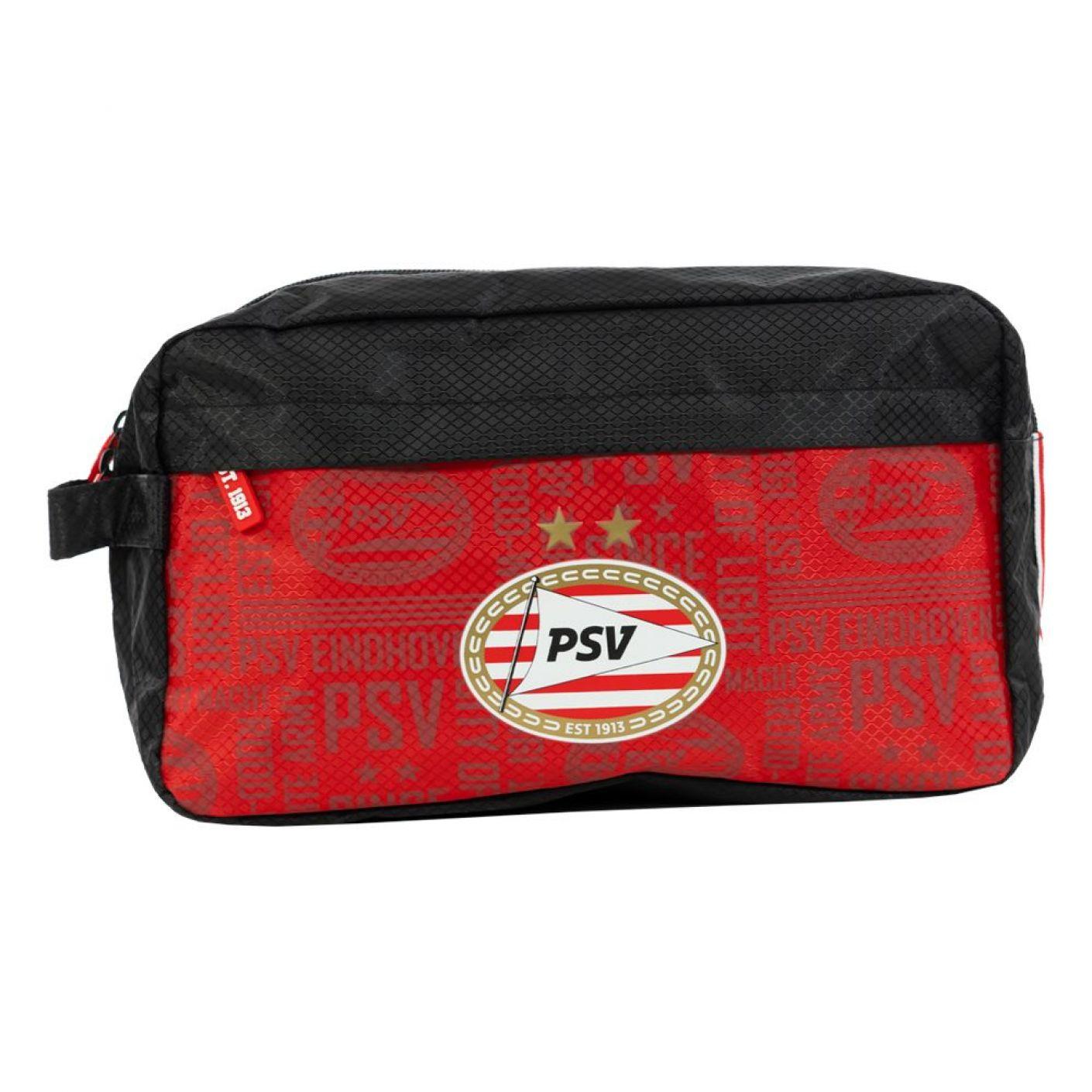 PSV Toilettas All Over zwart-rood