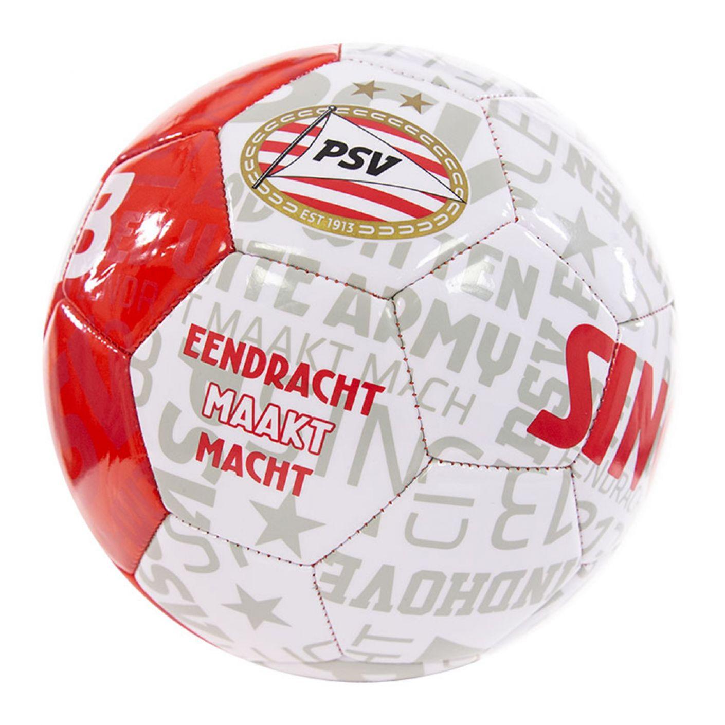 PSV Bal Teksten rood-wit