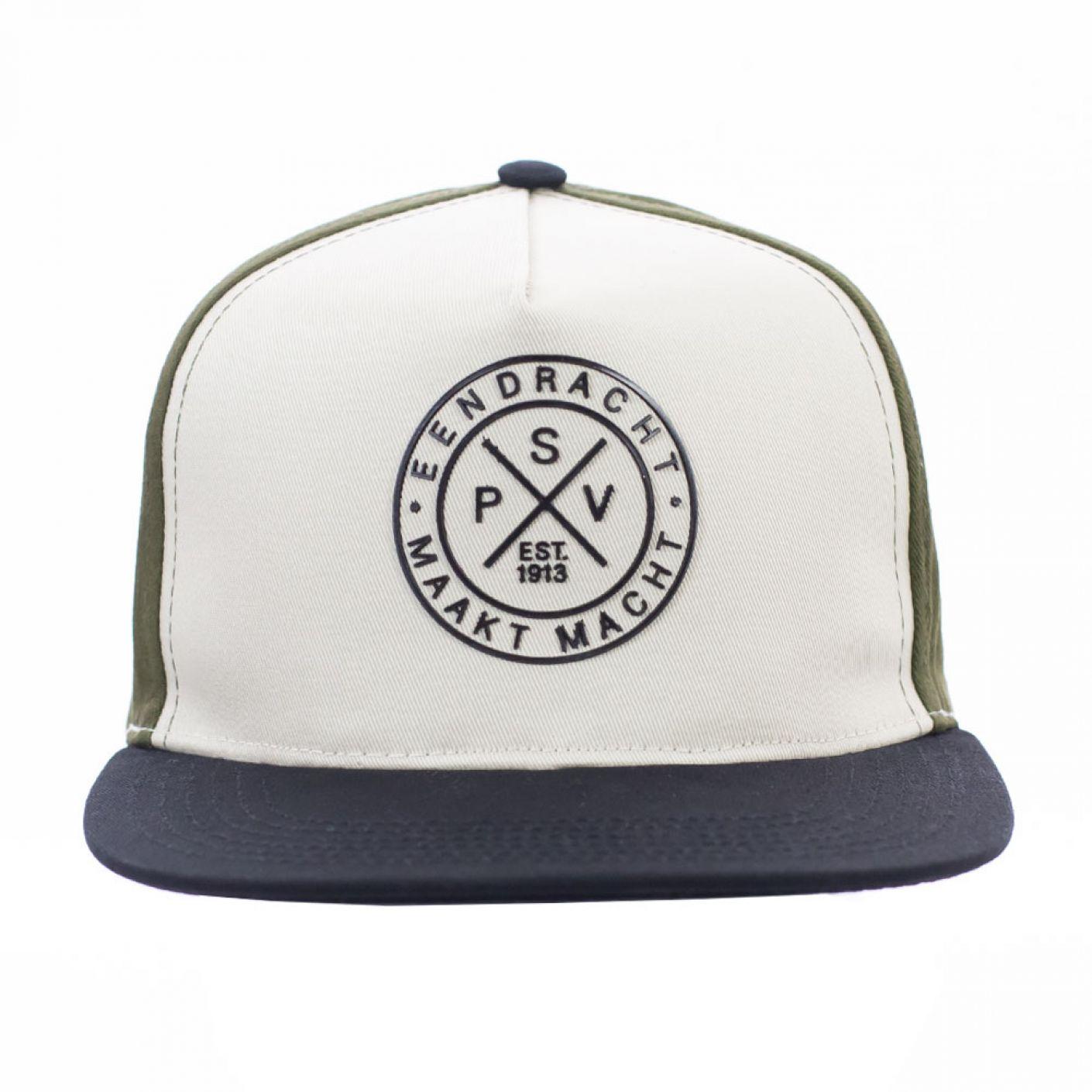 PSV Cap Flatpeak EMM Cross khaki JR
