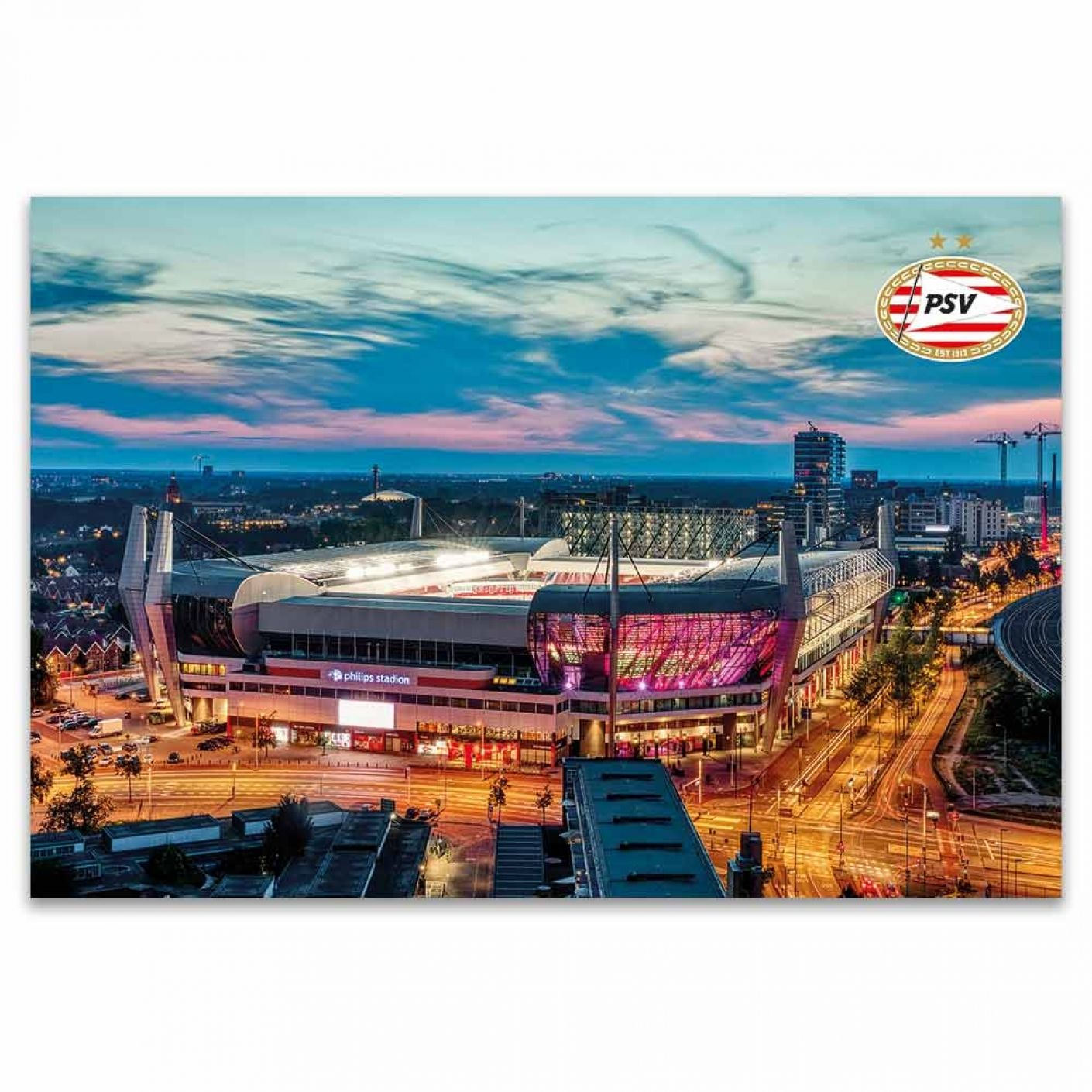 PSV Poster Stadion Avond