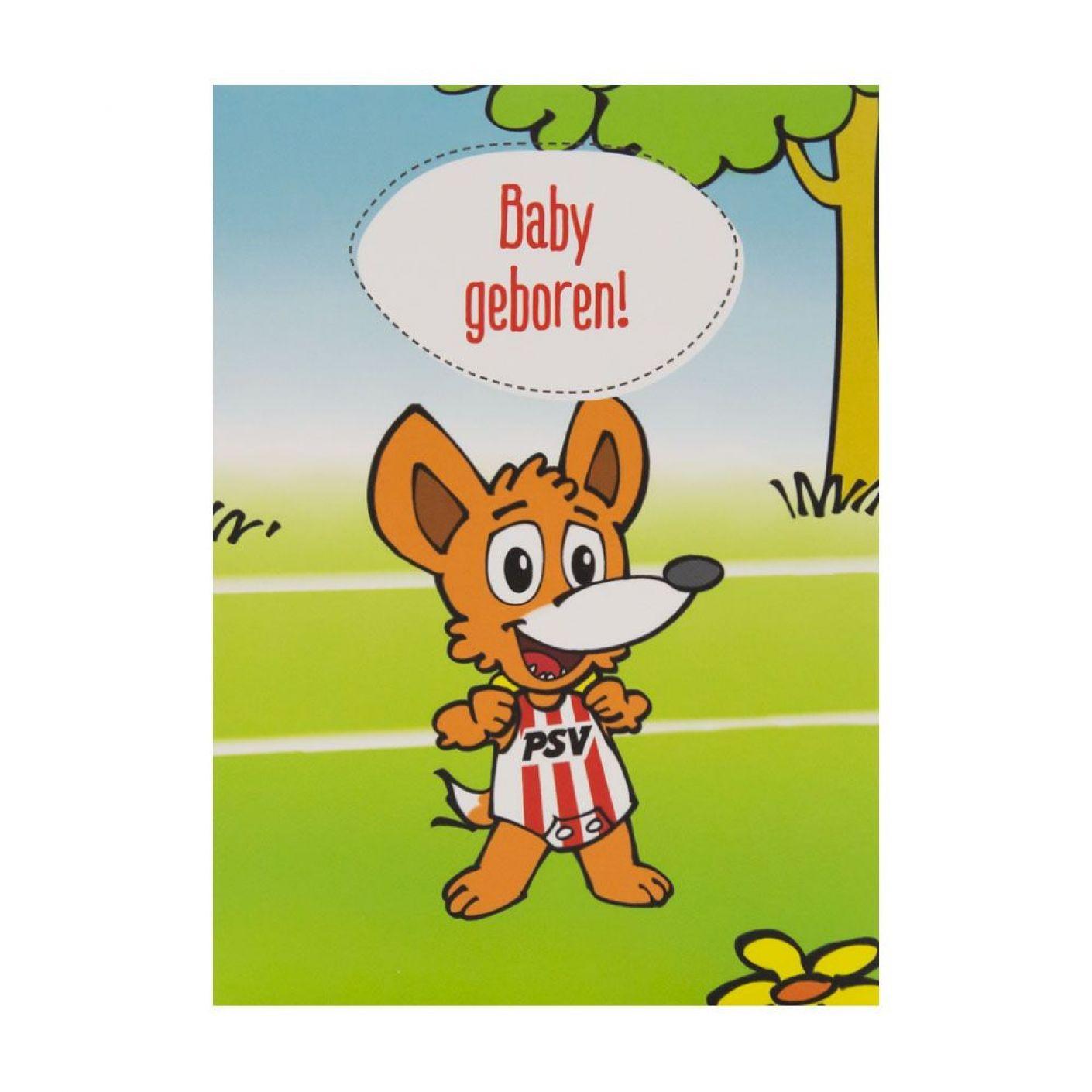 PSV Wenskaart Geboorte Baby Phoxy