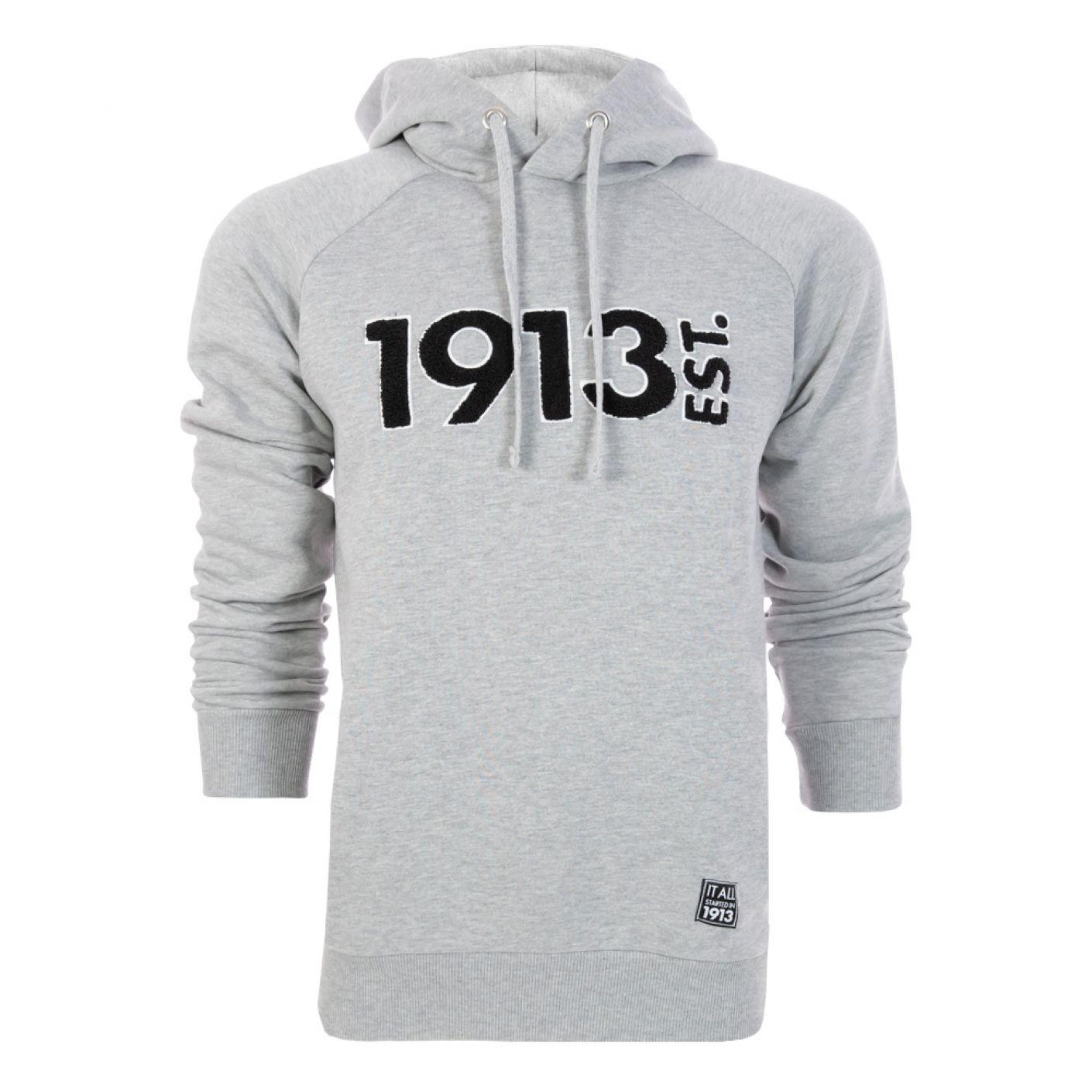 1913 Hooded Sweater Terry grijs