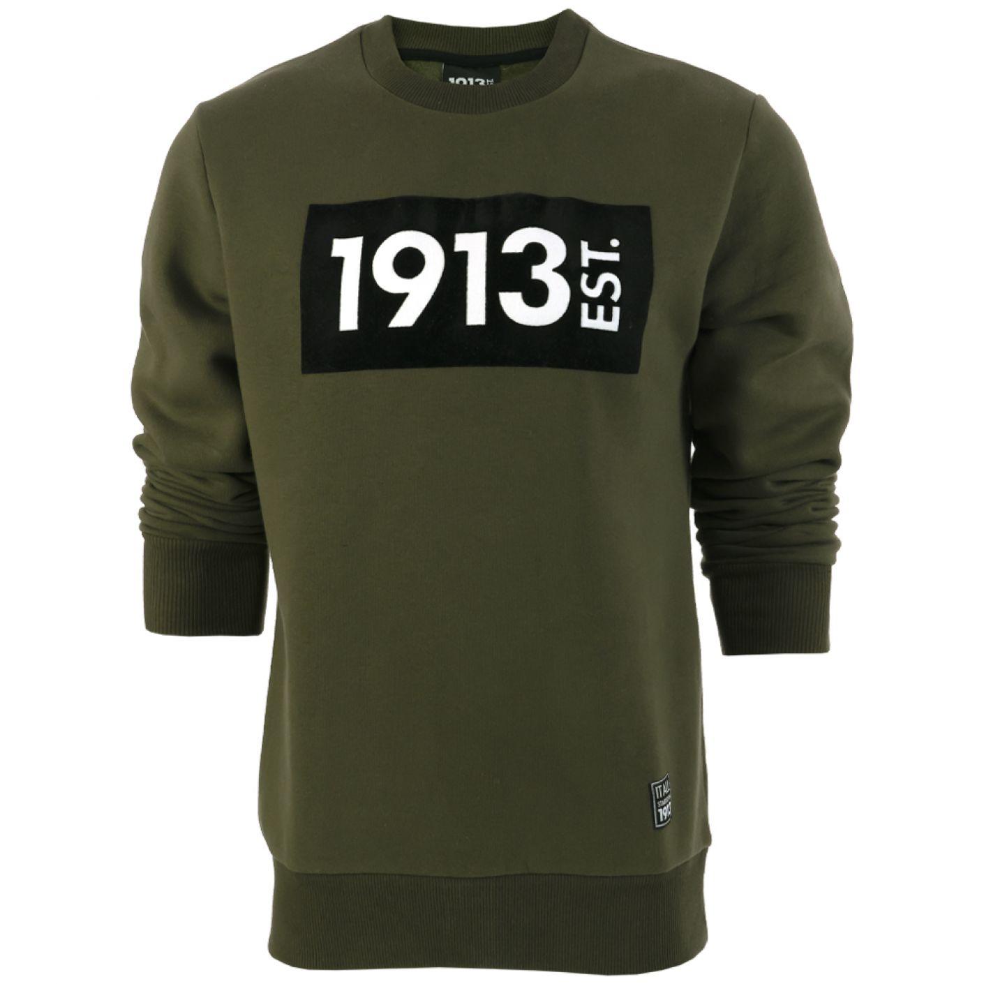 1913 Sweater khaki Block