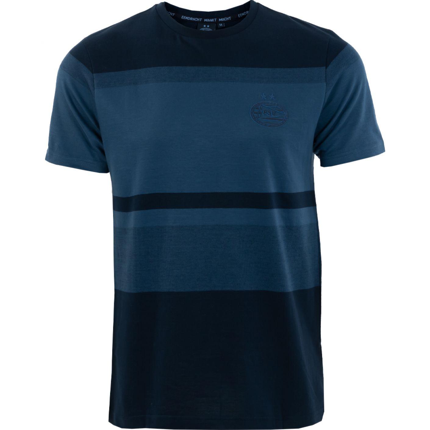 PSV T-shirt Logo Tonal d.blauw