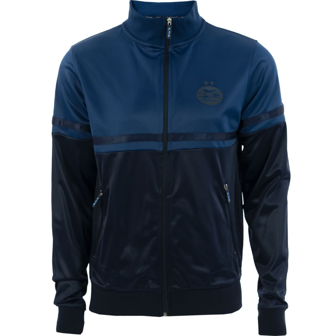 PSV Track Jacket Logo Tonal d.blauw