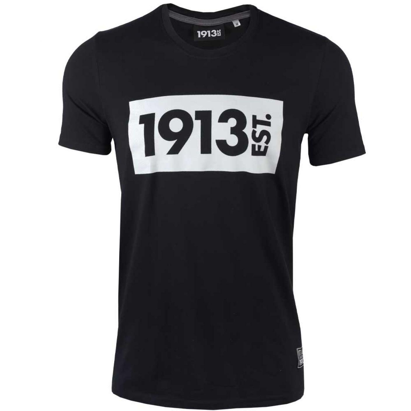 1913 T-shirt zwart Block grijs