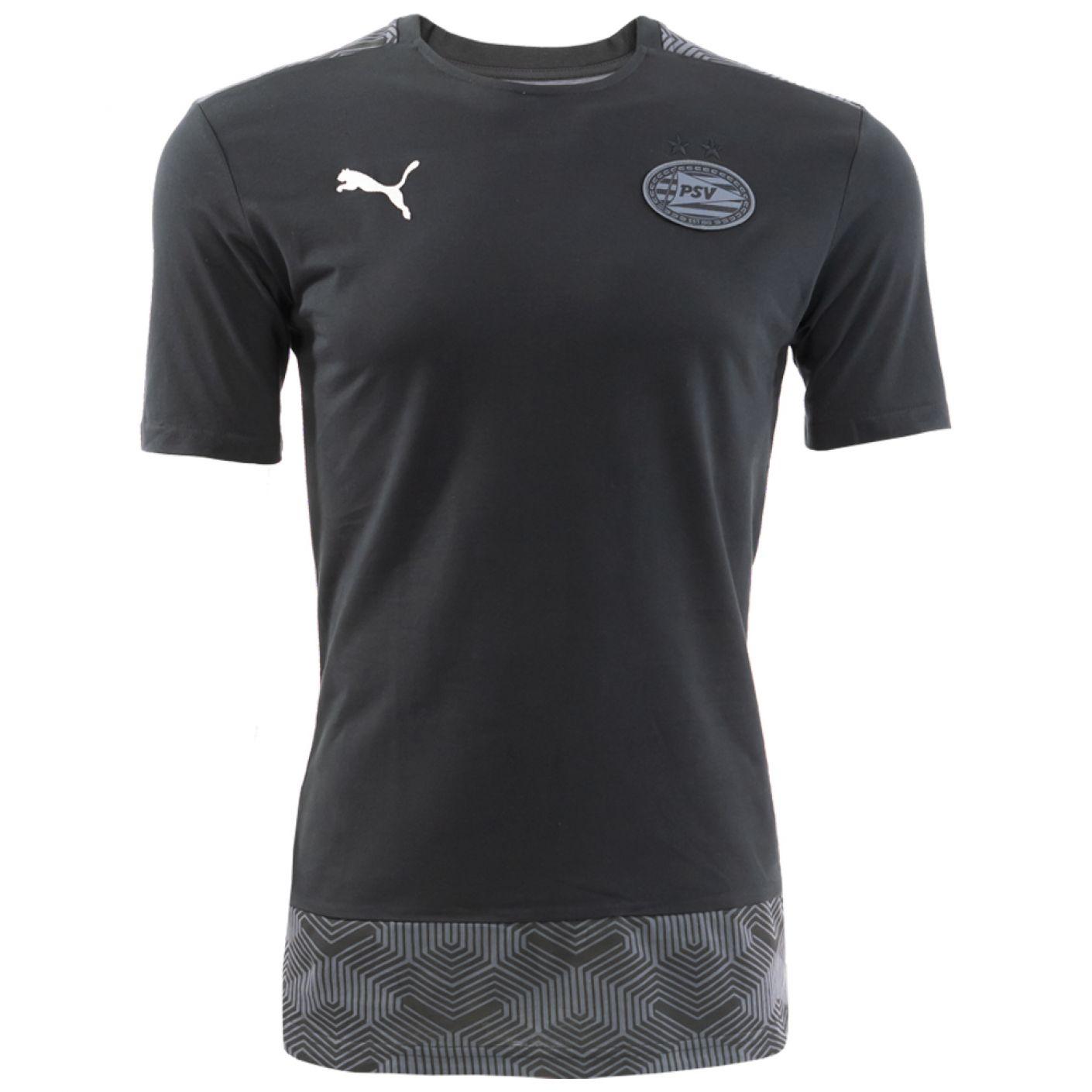 PSV Casual T-shirt Zwart