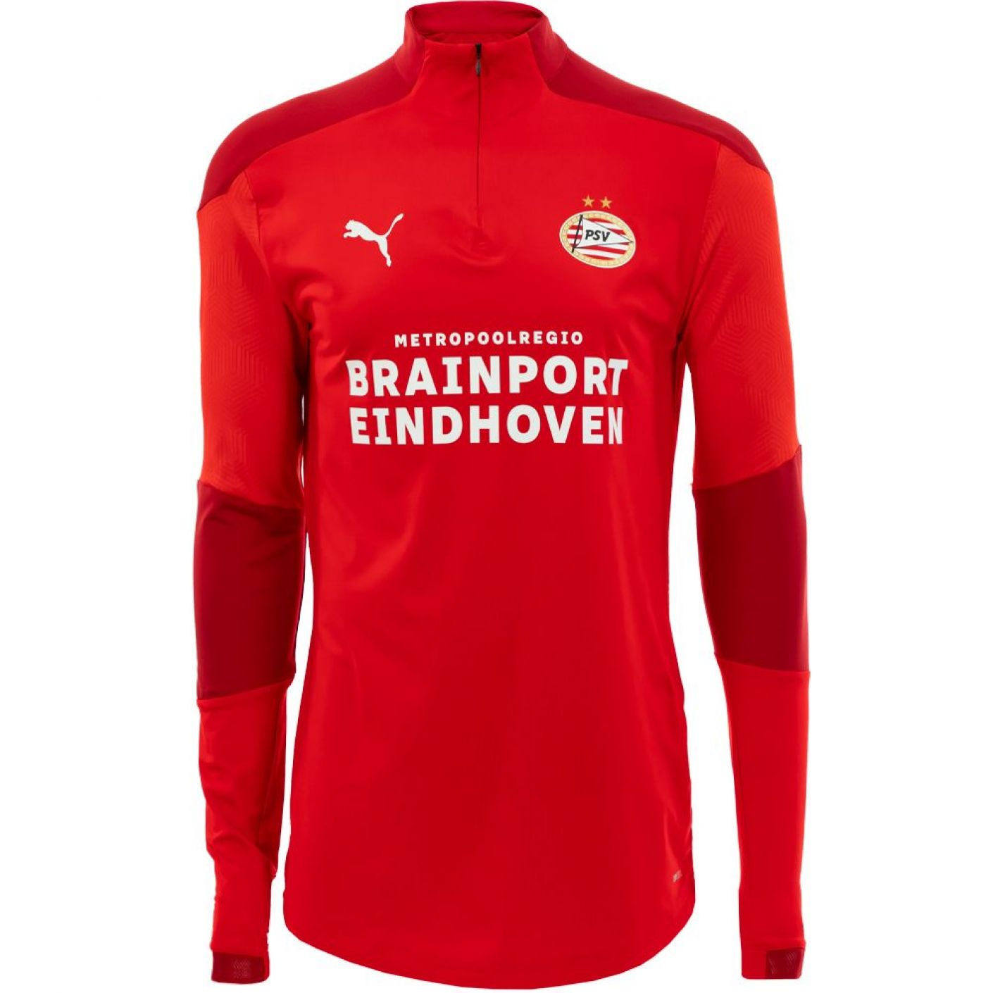 PSV Trainingssweater 1/4 rits 20/21 Rood