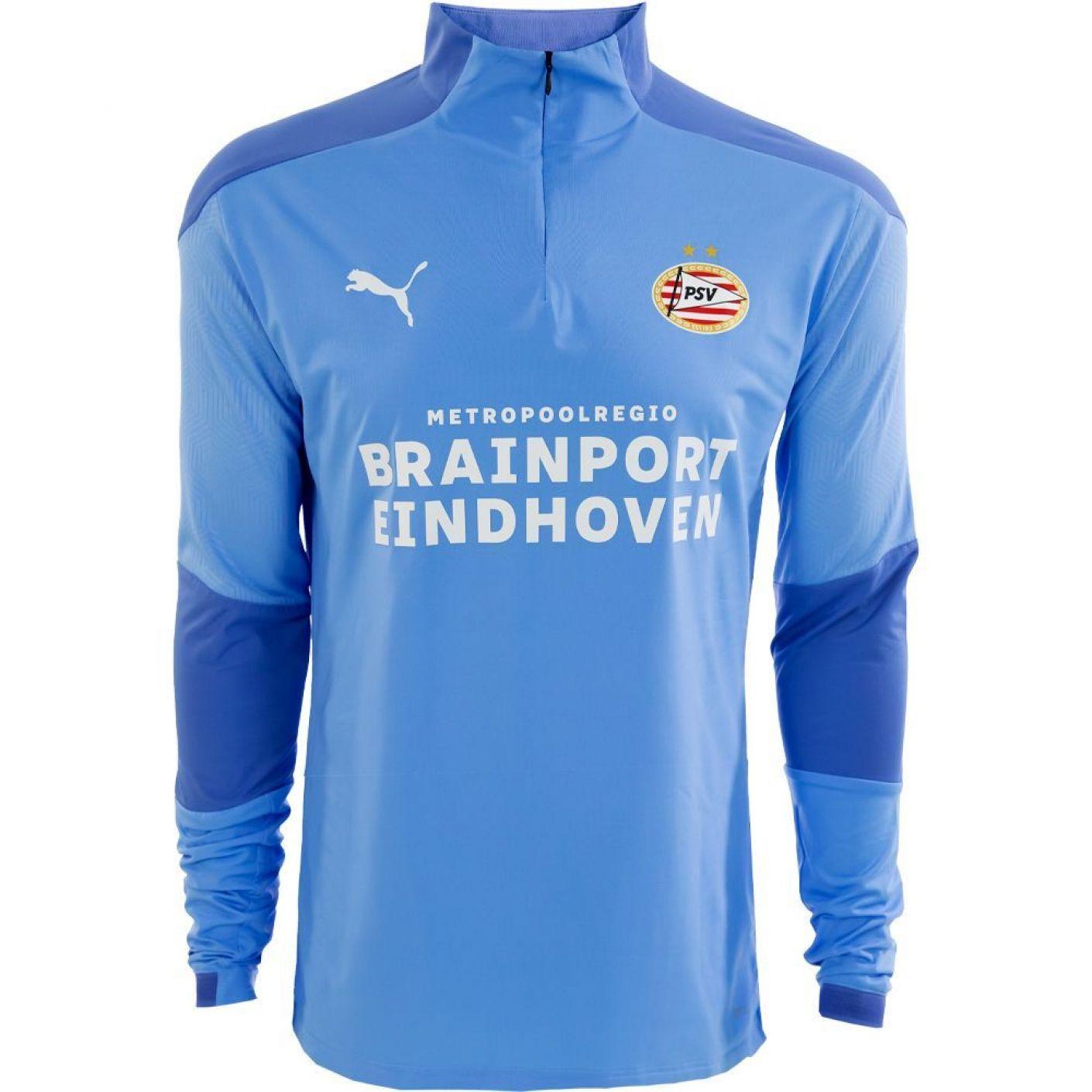 PSV Trainingssweater 1/4 rits JR 20/21 LBlauw