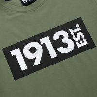 1913 T-shirt groen Block