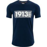 1913 T-shirt d.blauw Stripes wit