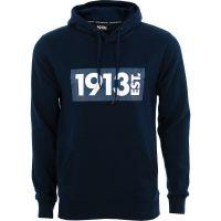 1913 Hooded Sweater d.blauw Tonal