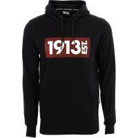 1913 Hooded Sweater zwart Stripes rood