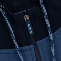 PSV 1/4 Zip Hoodie Logo Tonal Kids d.blauw