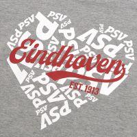 PSV T-shirt Hart Dames grijs