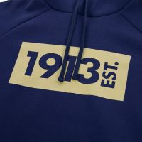 1913 Hooded Sweater d.blauw Block goud