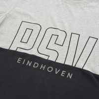PSV T-shirt Letters donkergrijs-grijs