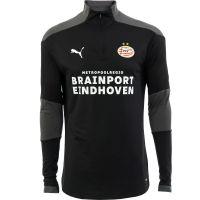 PSV Trainingssweater 1/4 rits JR 20/21 Zwart