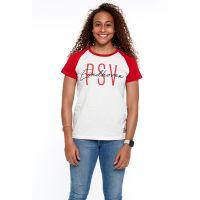 PSV T-shirt Eindhoven Dames wit-rood