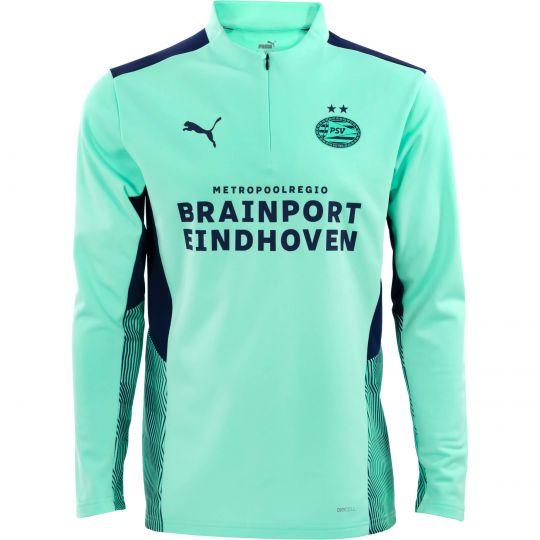 PSV Trainingssweater 1/4 Rits JR Green Glimmer 21/22