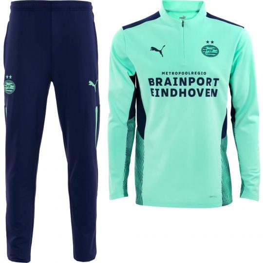 PSV Trainingspak 1/4 Rits Green Glimmer 21/22