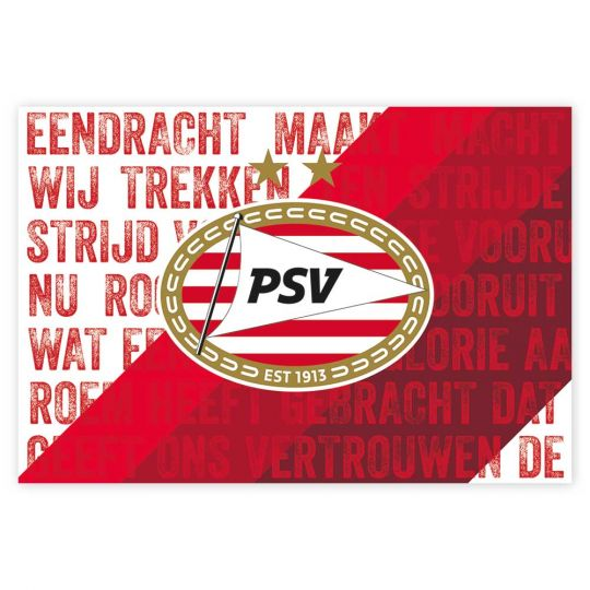 PSV Poster Clublied rood-wit