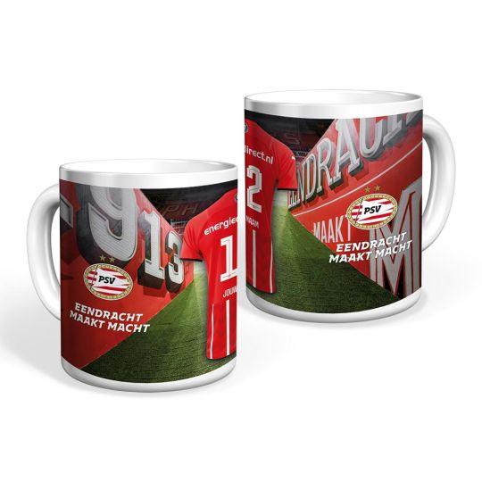 PSV Mok Thuisshirt 21-22 Gepersonaliseerd