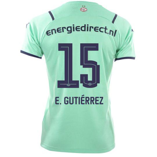 PSV E. Gutiérrez 15 Derde Shirt 21/22