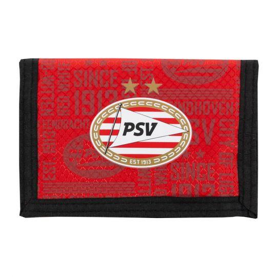 PSV Portemonnee All Over zwart-rood