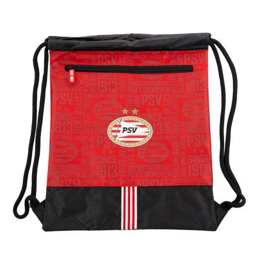 PSV Gymtas All Over zwart-rood
