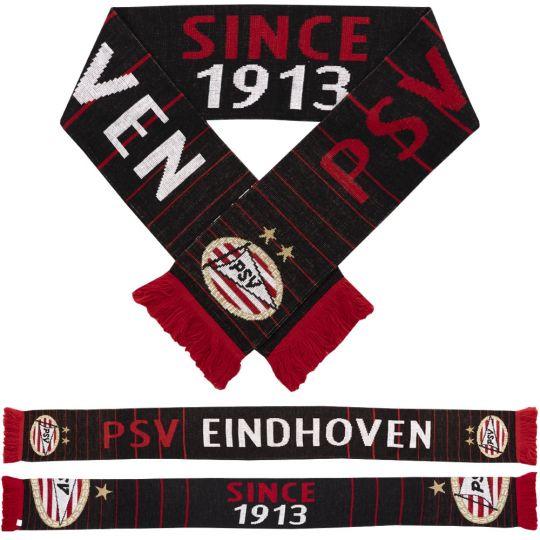 PSV Sjaal Logo Since 1913 zwart