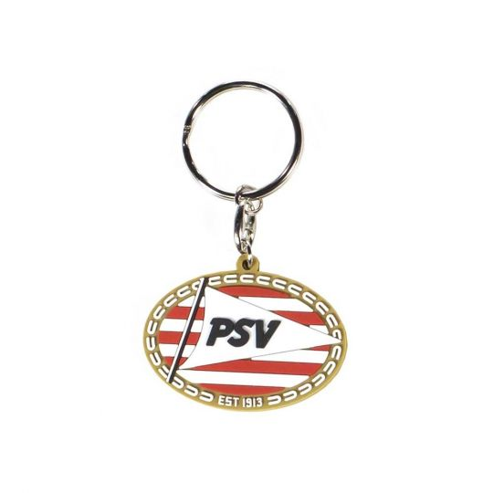 PSV Sleutelhanger Rubber Logo