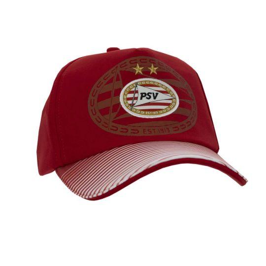PSV Cap Logo Lines rood JR