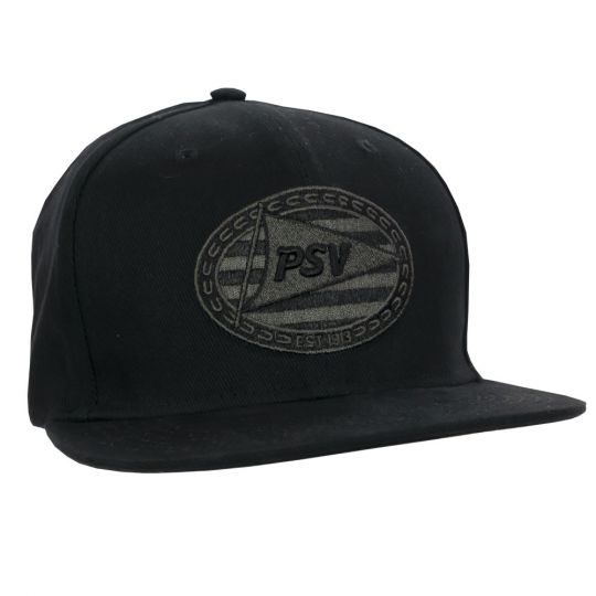 PSV Cap Flatpeak Logo Black SR