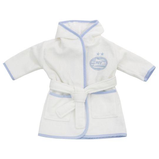 PSV Badjas Baby wit/blauw