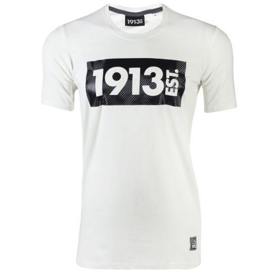 1913 T-shirt wit Block Carbon