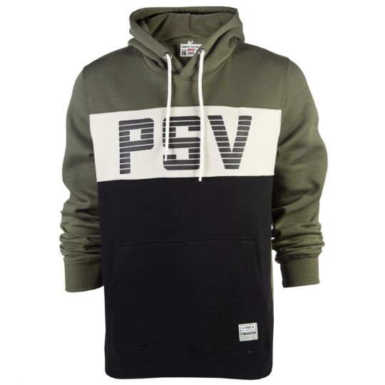 PSV Hooded Sweater Block zwart/groen