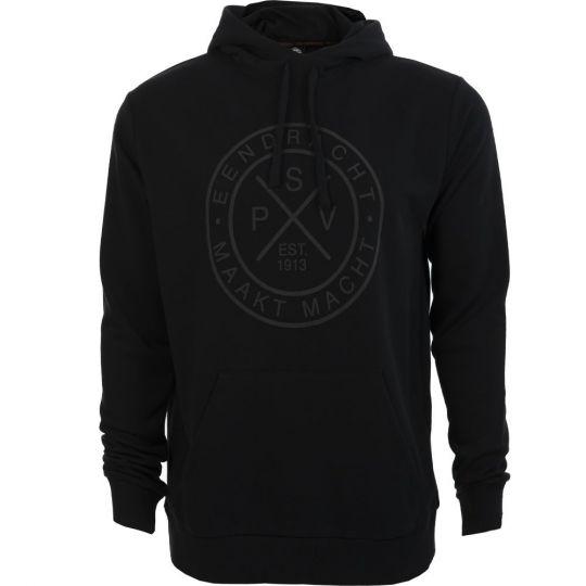 PSV Hooded Sweater EMM Cross zwart