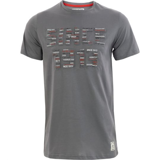 PSV T-shirt Since 1913 Embossed grijs
