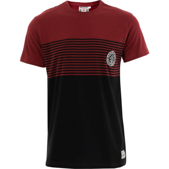 PSV T-shirt EMM Cross zwart-bordeaux