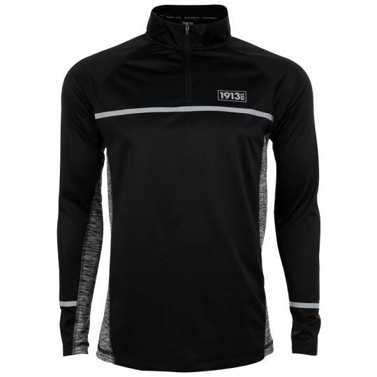 1913 Trainingssweater 1/4 Zip zwart-grijs
