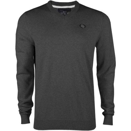 PSV Premium Sweater V-neck d.grijs AW19